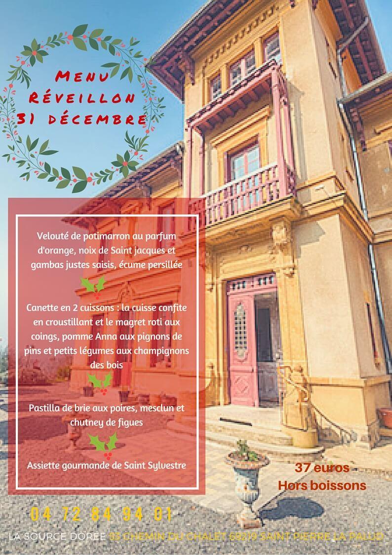 restaurant ouest lyonnais menu du reveillion 31 janvier 2015